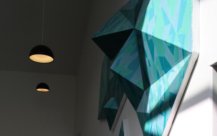 Detalje af Krista Rosenkildes værk, Center for Døve