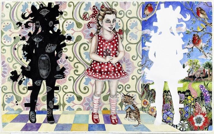 Værk fra den danske kunstner Julie Nords udstilling på ARoS, 2010